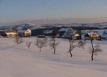 Zimowy widok z okna pokoju